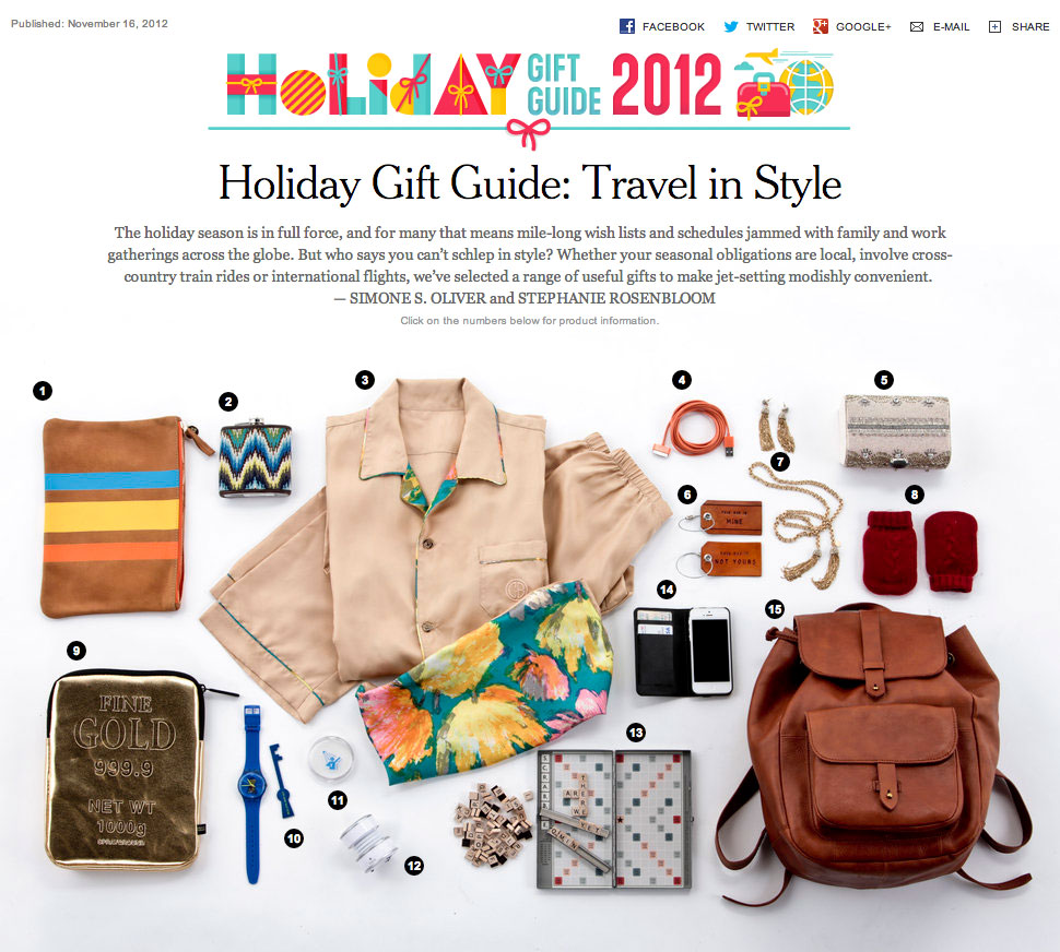 gift guide example to attract last minute holiday shoppers