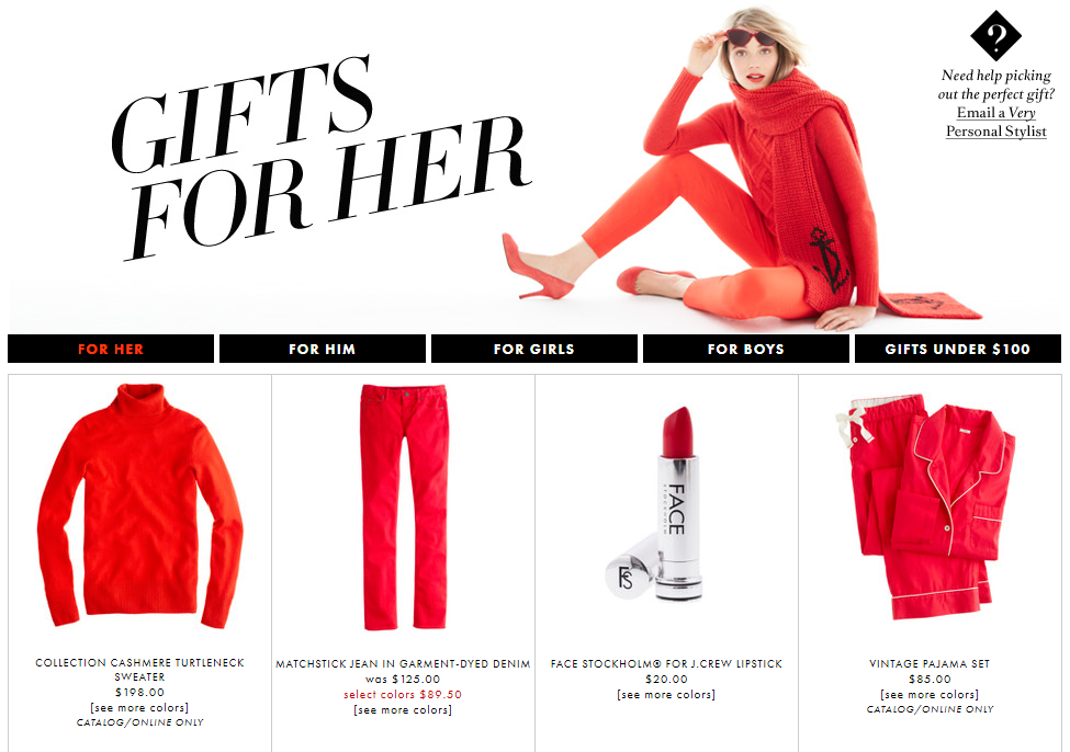 how J crew successfully attract last minute holiday shoppers